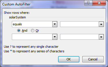 How to insert a custom filter in Excel 2007