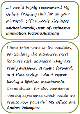 Outlook Online Training Testimonials 1