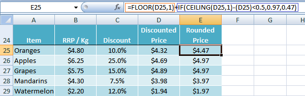 Excel FLOOR function trick